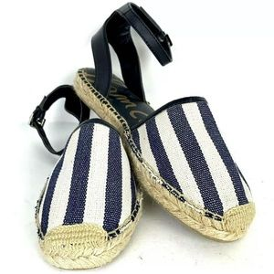 Sam Edelman Vivian Espadrille sandal 7 M stripe